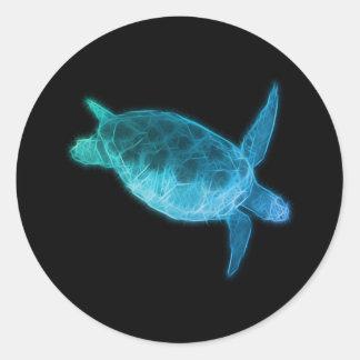 Meeresschildkröte Runder Aufkleber