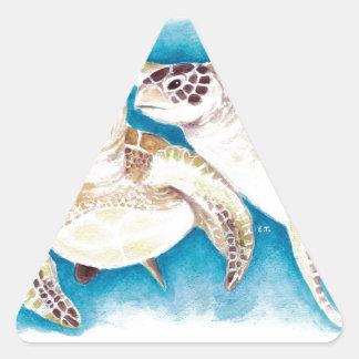 Meeresschildkröten Dreieckiger Aufkleber