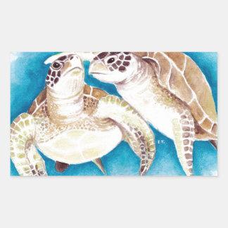 Meeresschildkröten Rechteckiger Aufkleber