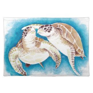 Meeresschildkröten Stofftischset