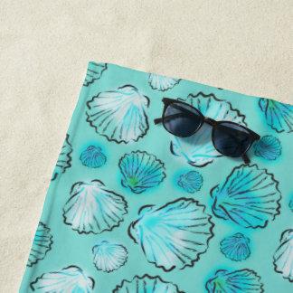 Meergrünseashell-Muster Strandtuch