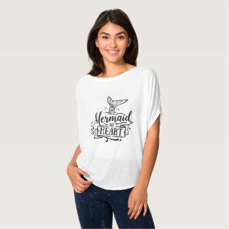 Meerjungfrau an Herz T-Shirt
