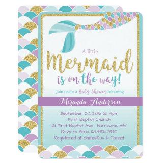 Meerjungfrau-Babyparty-Einladung Karte