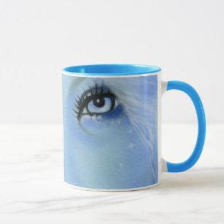 Meerjungfrau-blaue Augen-Tasse Tasse