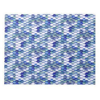 Meerjungfrau-blaues Haut-Muster Memo Block