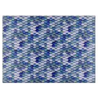 Meerjungfrau-blaues Haut-Muster Schneidebrett
