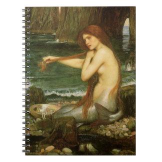 Meerjungfrau durch JW Waterhouse, viktorianische Notizblock