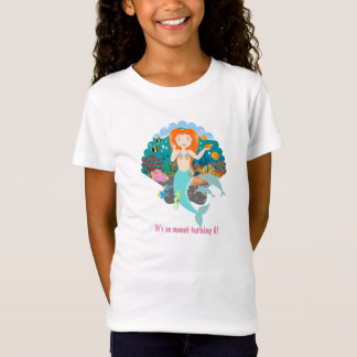 Meerjungfrau-Geburtstags-Mädchen T-Shirt