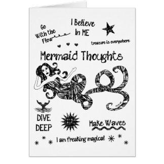 Meerjungfrau-Gedanken Karte