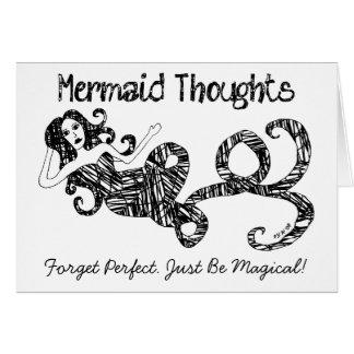 Meerjungfrau-Gedanken: Vergessen Sie perfektes. Karte