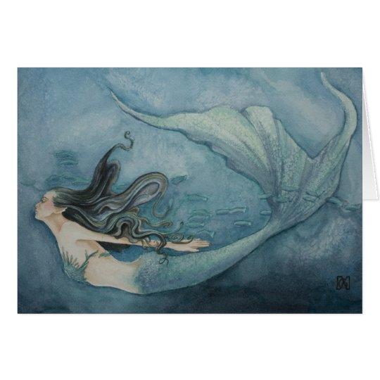 Meerjungfrau-Karte Karte