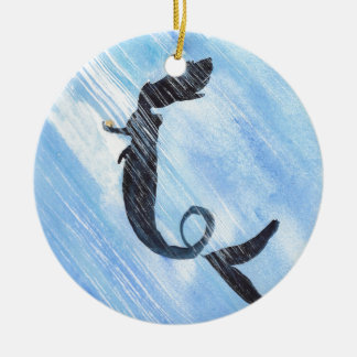 Meerjungfrau Keramik Ornament