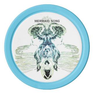 Meerjungfrau-Lied-SeeLiebe-Romance Poker Chips