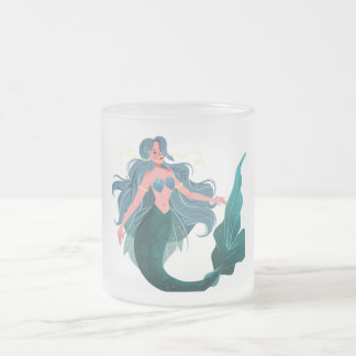 Meerjungfrau-mattierte Kaffee-Tee-Tasse 10 Unze Mattglastasse