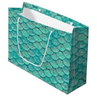Meerjungfrau-Meergrün-Skalen Große Geschenktüte