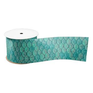 Meerjungfrau-Meergrün-Skalen Satinband
