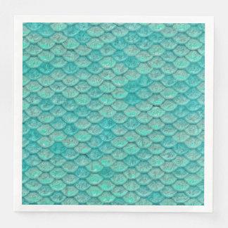Meerjungfrau-Meergrün stuft Papierserviette ein