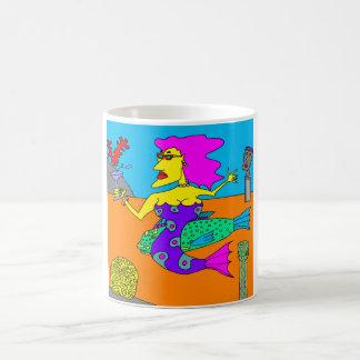 Meerjungfrau mit Papageienfisch Kaffeetasse
