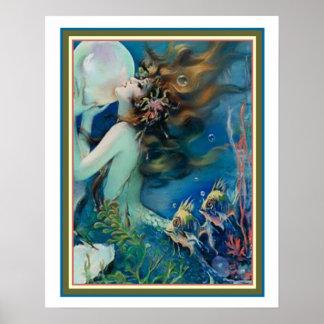 """Meerjungfrau mit Perlen-"" Kunst Deko durch Henry"