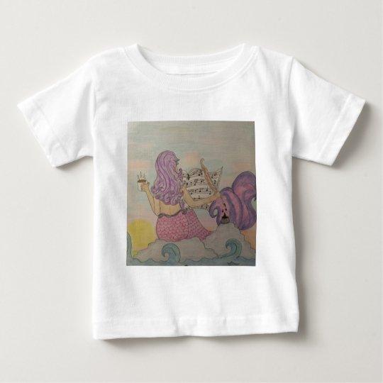 Meerjungfrau-Musik Baby T-shirt