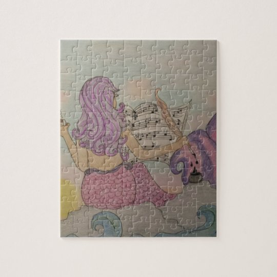 Meerjungfrau-Musik Foto Puzzles