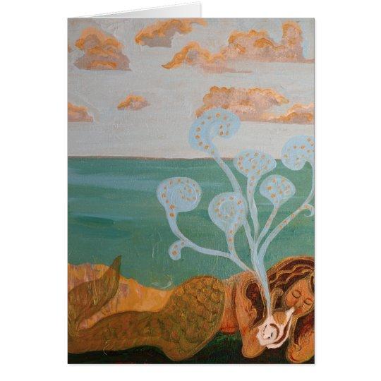 Meerjungfrau-Musik Grußkarte
