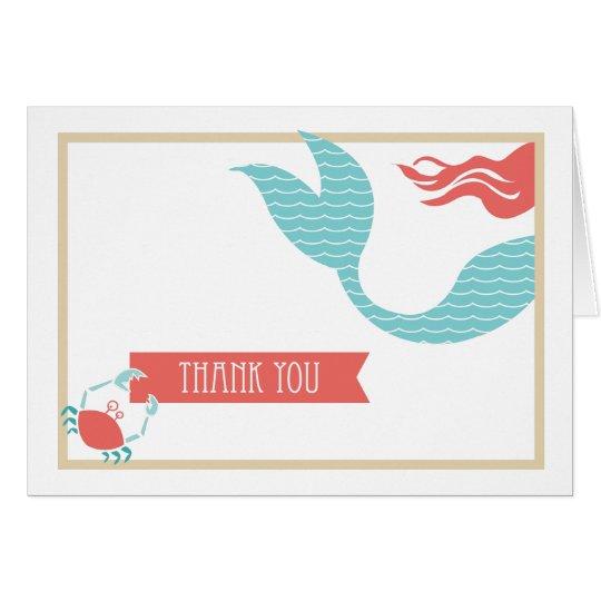 Meerjungfrau-Party | danken Ihnen zu kardieren Karte