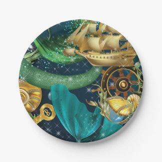 Meerjungfrau-Party-Teller Pappteller 17,8 Cm