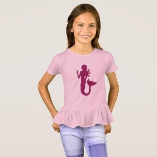 Meerjungfrau-Rüsche-Spitze für Mädchen T-Shirt