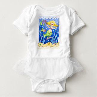 Meerjungfrau-Rüsche-T - Shirt