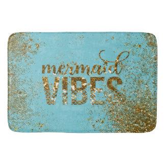 Meerjungfrau Schwingungen GoldGlitter-Typografie Badematte