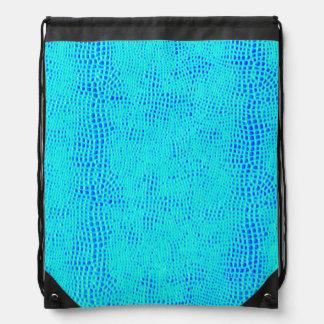 Meerjungfrau-Skala-blaues veganes Neonleder Sportbeutel
