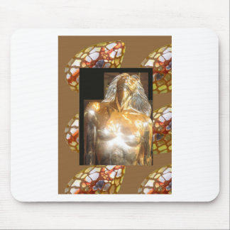 MEERJUNGFRAU Statue-Goldbronze: GROSSE Mousepad