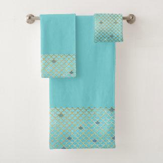 Meerjungfrau stuft Bad-Tuch-Set ein Badhandtuch Set