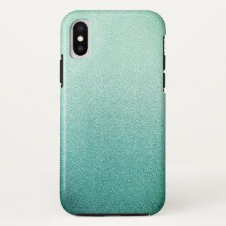 Meerjungfrau-tadelloser grüner Glitzer-Sand Ombre iPhone X Hülle
