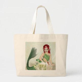 Meerjungfrau-Taschen-Tasche Jumbo Stoffbeutel