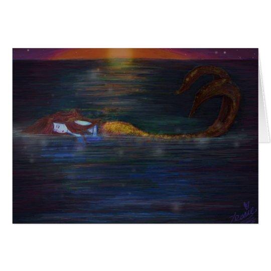 Meerjungfrau träumt Geburtstags-Gruß-Karte Karte