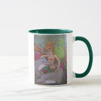 Meerjungfrau und Delphine Tasse