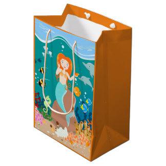 Meerjungfrau und Delphingeburtstags-Party Mittlere Geschenktüte