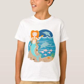 Meerjungfrau und Delphingeburtstags-Party T-Shirt
