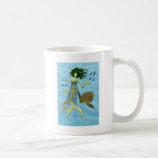 Meerjungfrau und Meeresschildkröte Kaffeetasse