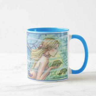 Meerjungfrau-und Seeschildkröte-Tasse durch Molly Tasse