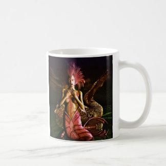 Meerjungfrau-und Wasser-Drache Kaffeetasse