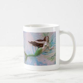 Meerjungfrau, ursprüngliche Kunst, Ozean, Kaffeetasse