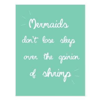 Meerjungfrau-Zitat Postkarte