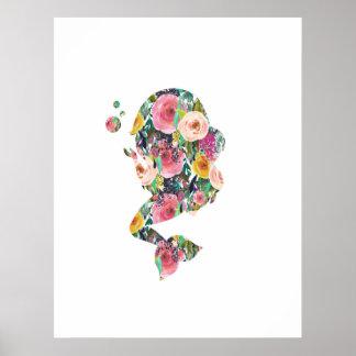 Meerjungfrauseewanddruck-Kinderzimmerkunst Poster