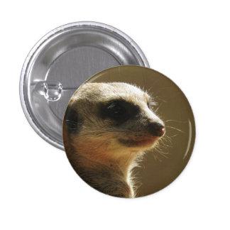Meerkat Abzeichen Runder Button 3,2 Cm