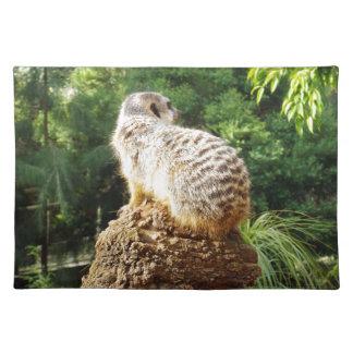 Meerkat mit hohen Ansichten, Tischset