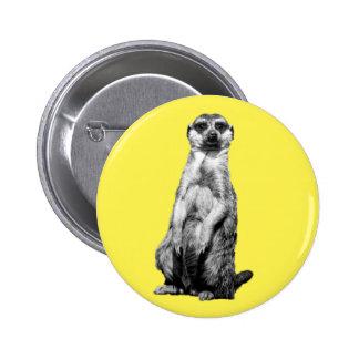 Meerkat Runder Button 5,7 Cm