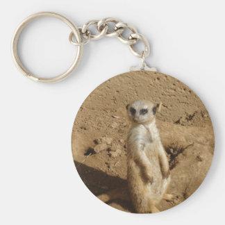 Meerkat Standard Runder Schlüsselanhänger